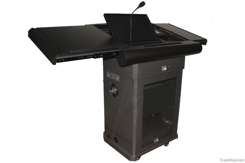 metal podium, classroom lectern podium, multimedia lectern, modern podium