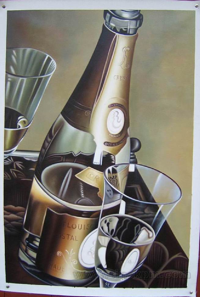 Still Life Oil Paintings,  Bottle Oil Paintings, Decoration, Crafts