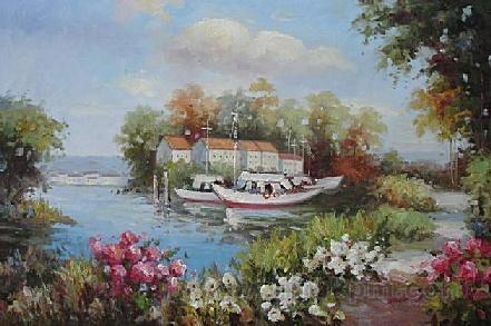 Landscape Oil Paintings, Mediterranean Sea Oil Paintings