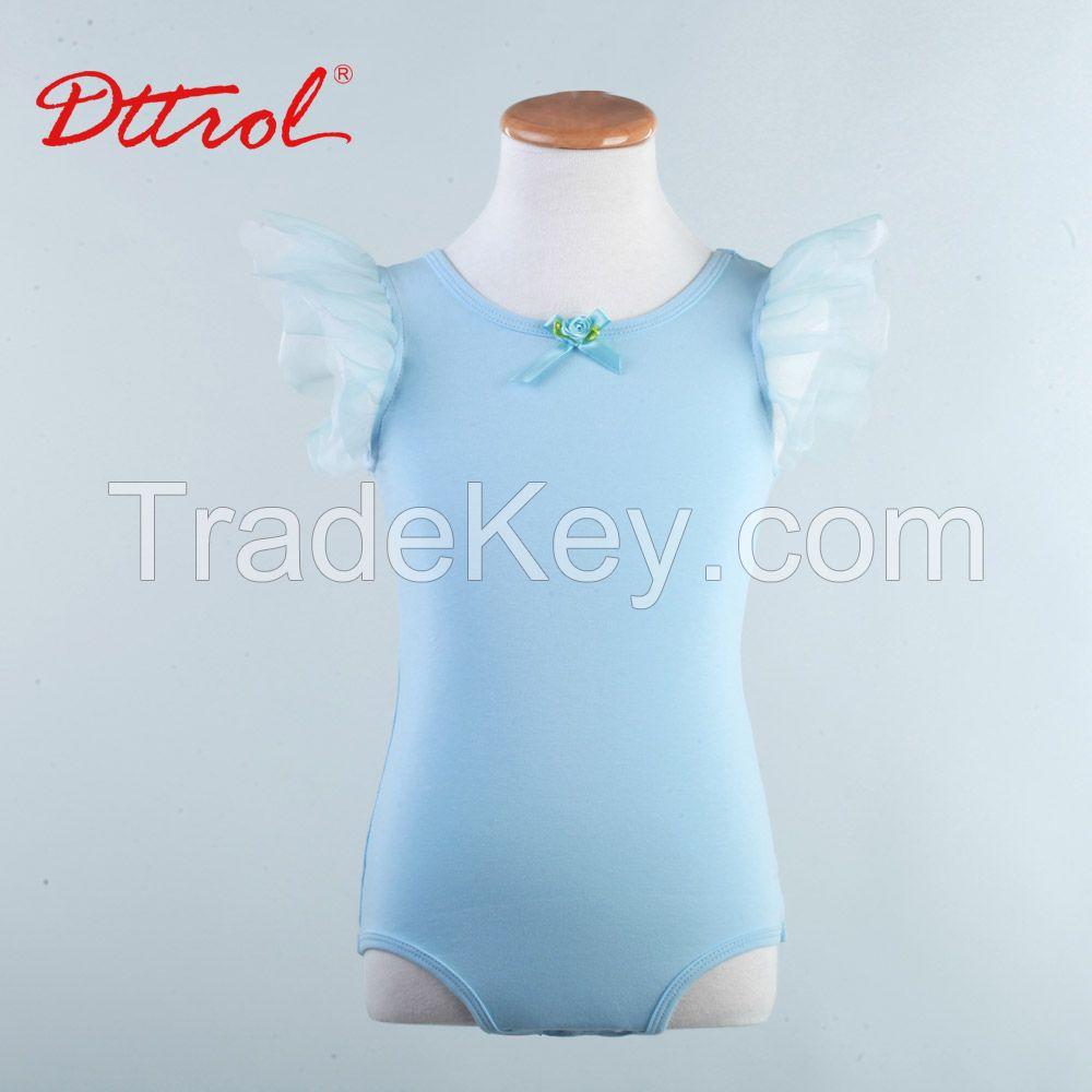 children kids flutter short sleeve ballet leotard ballet dance dress ballet skirt for girlsD031008