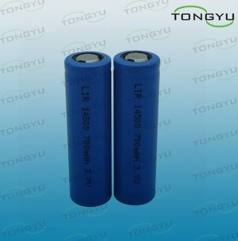 LED Lights, Solar Lights 14500 Lithium Ion Rechargeable Batteries Cell 3.7V 700m
