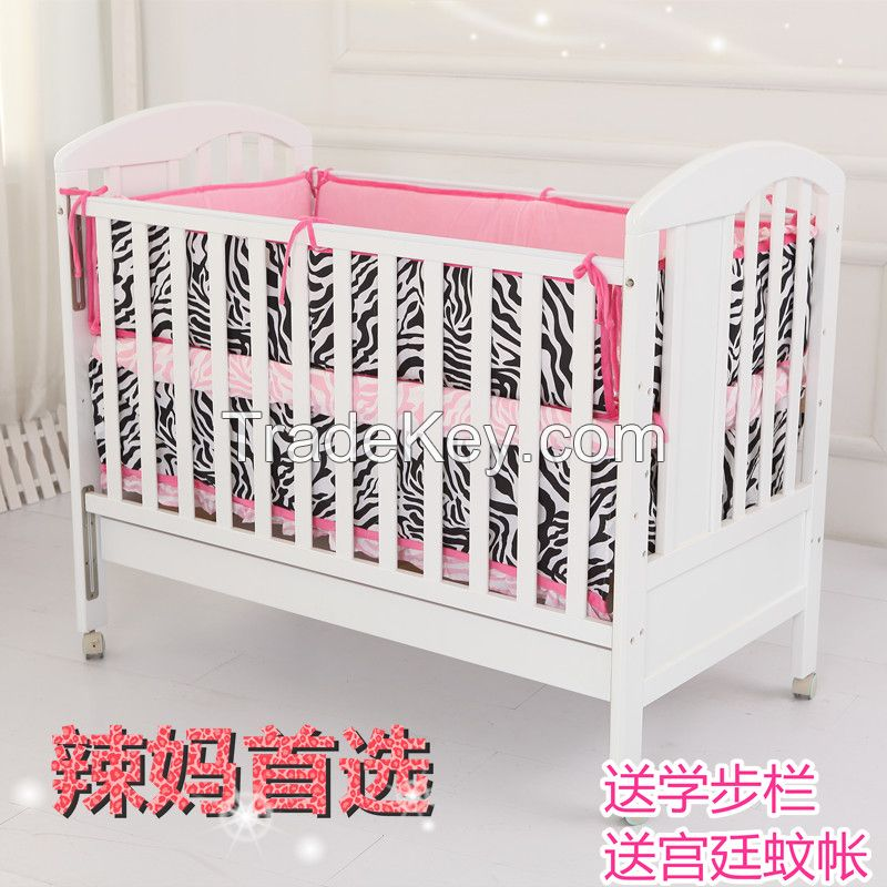 baby wood crib  cot Into a desk