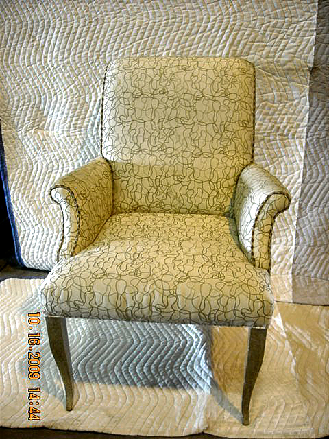 Gold and Silver customer wooden arm chairs