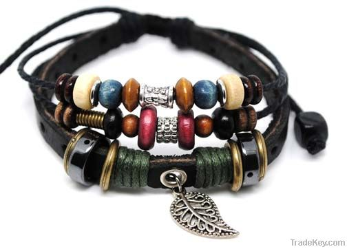 Handcraft leather bracelet
