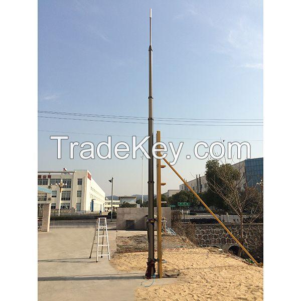 15m pneumatic telescopic masts for antenna/radio/ telecommunications