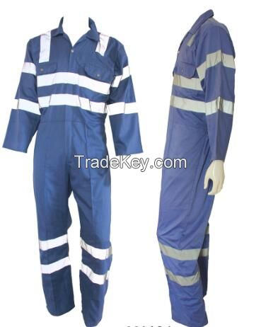 Best selling high quality coverall with reflective tape