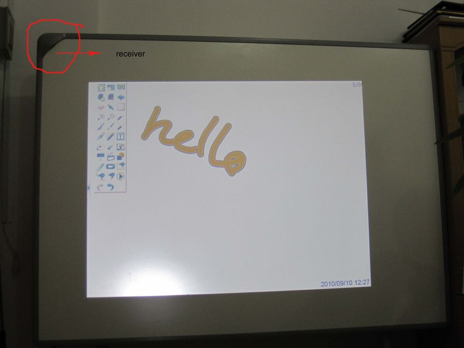 portable interactive white board type 82-JC
