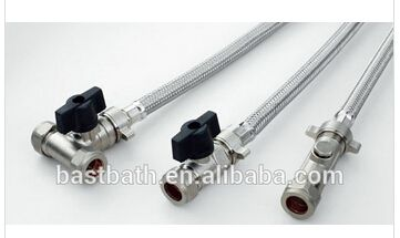 Flexible Hose with Stainless Steel Braided- Isolating Valve