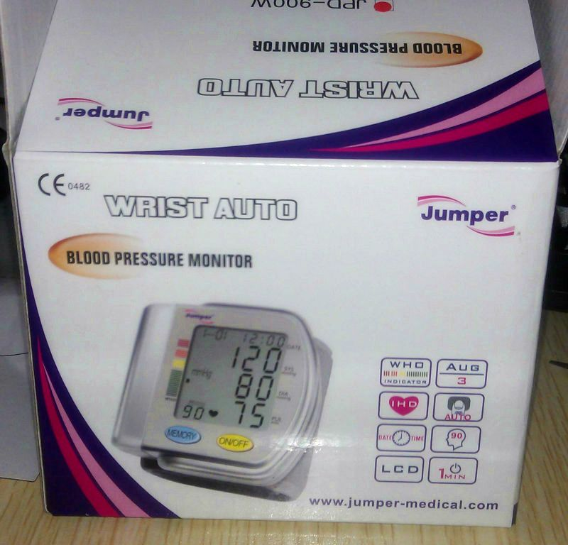 Free Shipping CE Approved digital wrist blood pressure digital pressure Blood Pressure Monitor wrist blood pressure meter Pulse