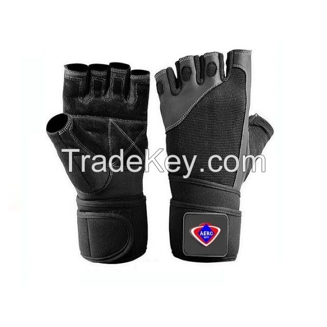 Cheap Quality Weightlifting Gym Training Leather Gloves