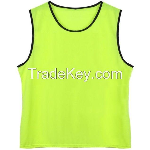 High Quality Custom Logo Training Mesh Bibs Sport Training Vest For Soccer Basketball And More