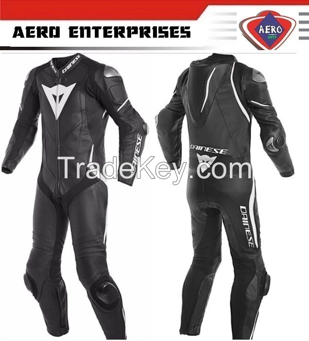 Pro Motorcycle Leather Racing Suit CE Protection