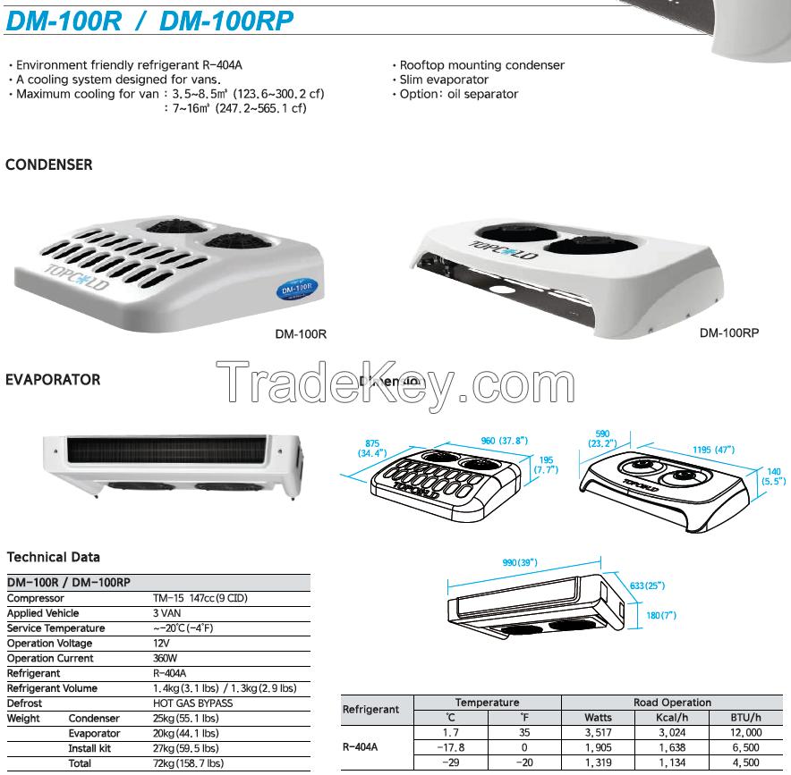 Truck Transport Refrigeration System DM-100R / DM-100RP