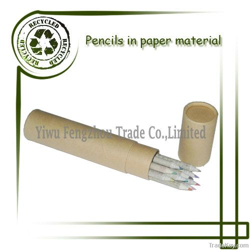 7'' recycled newspaper colored pencil set