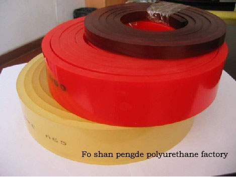 Polyurethane squeegee for ceramic, packing, textile industry