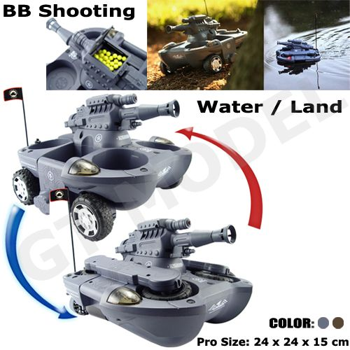 Water - Land Amphibious Rc Tanks
