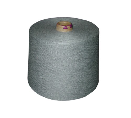 100% Cotton Heather Gray Melange Yarn, with Gray Level from 1 to 100%