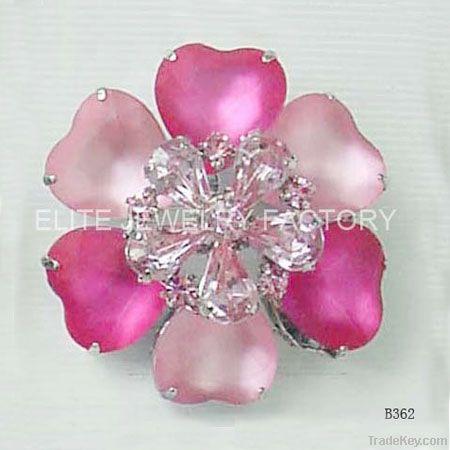 wedding invitations fashion brooch with crystal flower