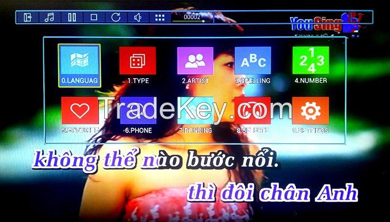 KTV-8868E Android HD jukebox karaoke player with 4K , Support MKV/VOB/D