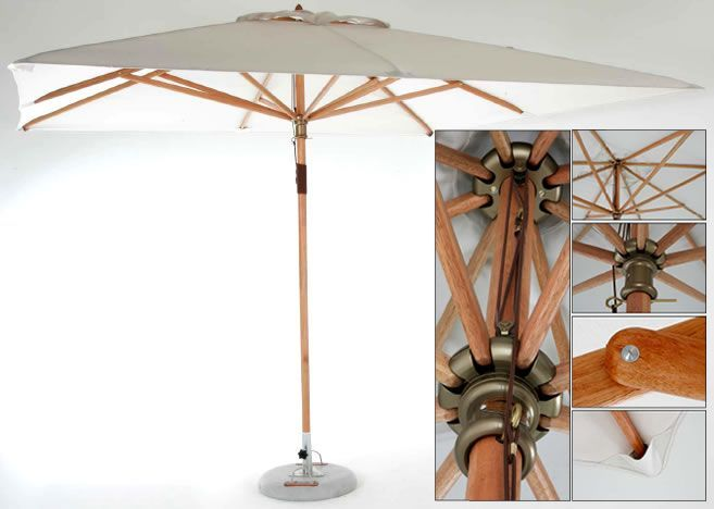 china supplier high quality wooden garden umbrella