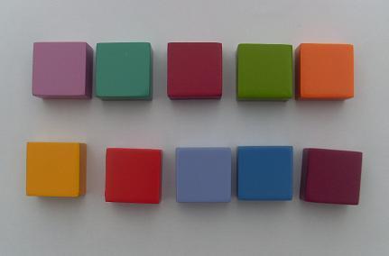 Wooden Coloured Blocks