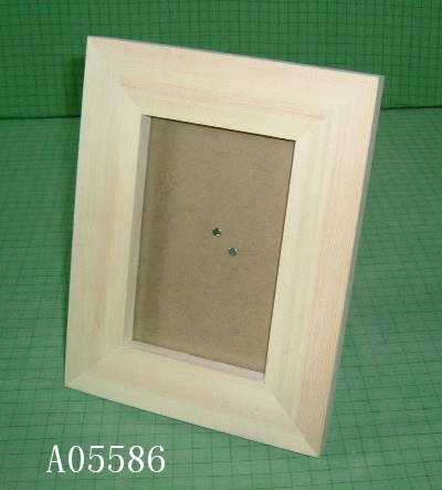 Unfinished wooden photo frames