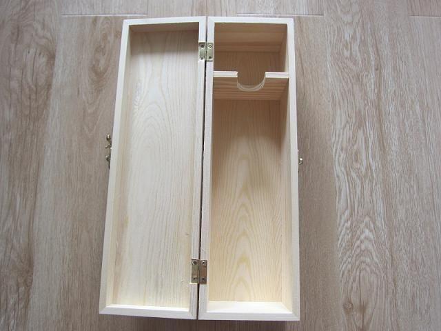Wooden Single Bottle Box