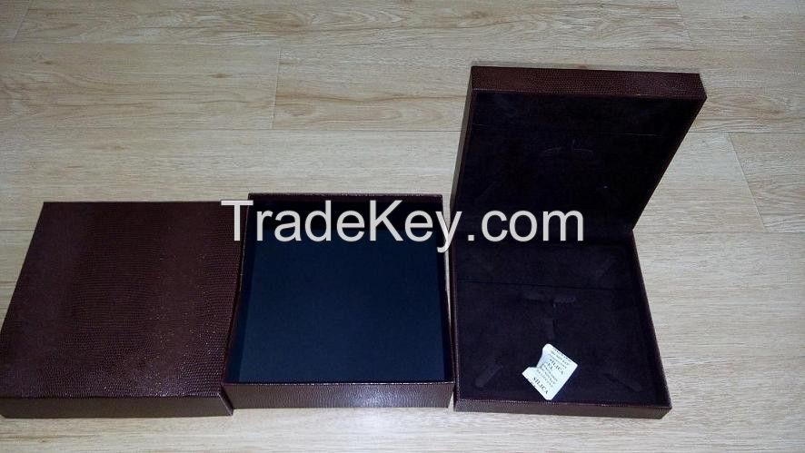 Jewelry boxes set, leatherette paper jewellery cases