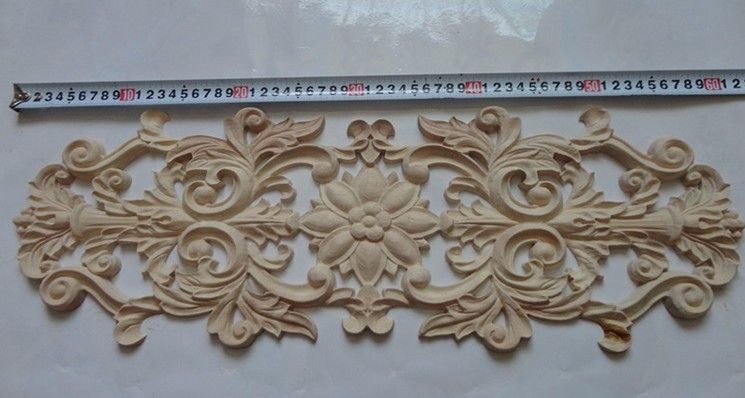 Carving wood appliques furniture inlays wooden decorations