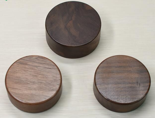 Wooden lids, screwable sealed glass jars wood cover lids