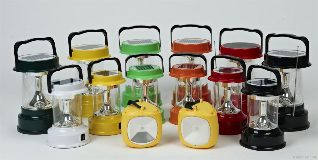 Rechargeable high-brightness nice appearance 3W LED Solar Lantern