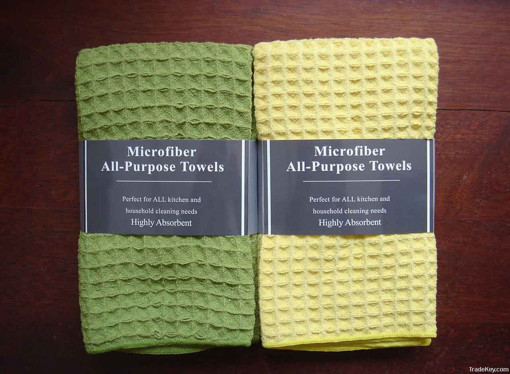 microfiber large waffle cleaning cloth
