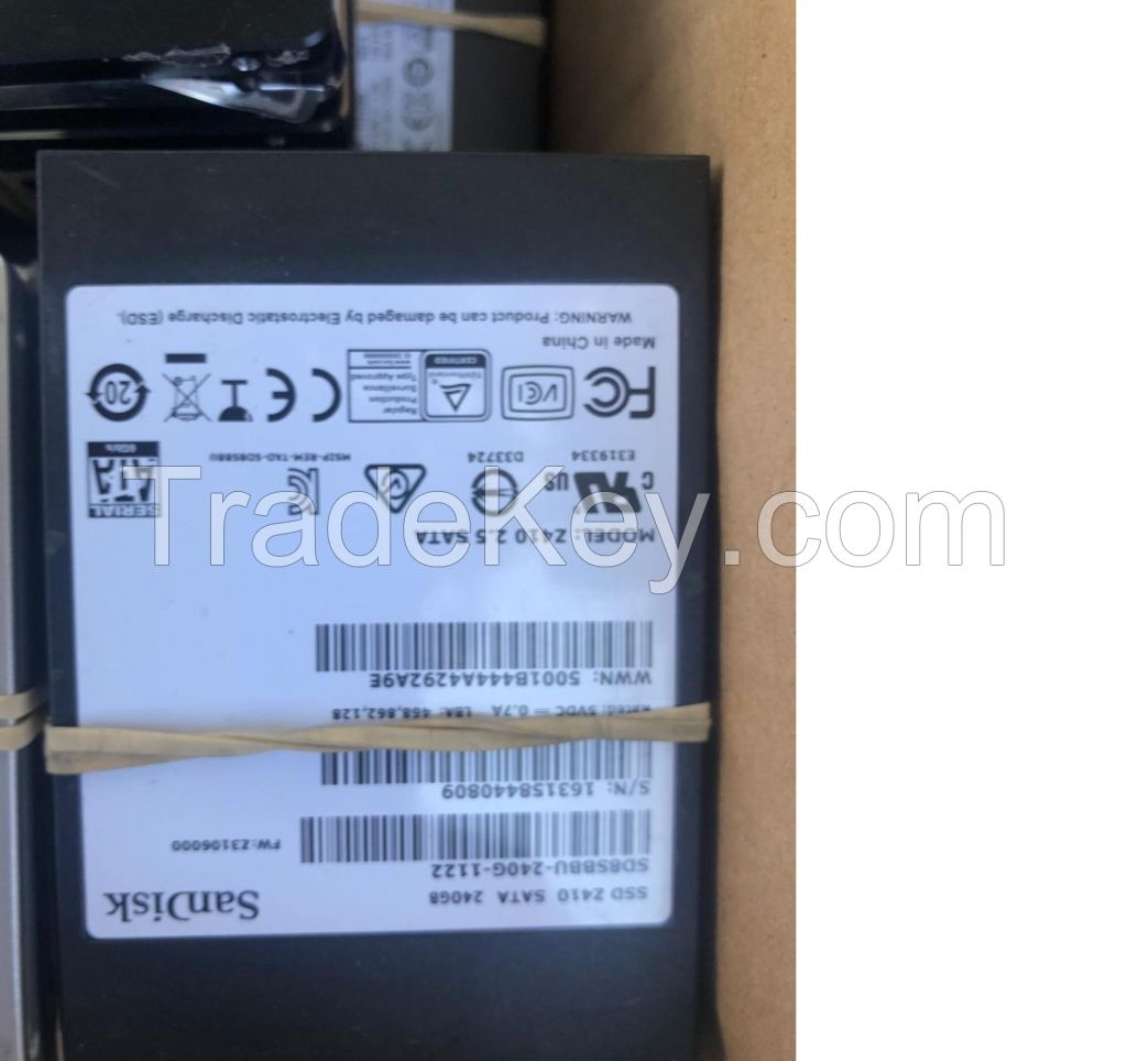 SSD Hard Drives - Solid State Drives Used