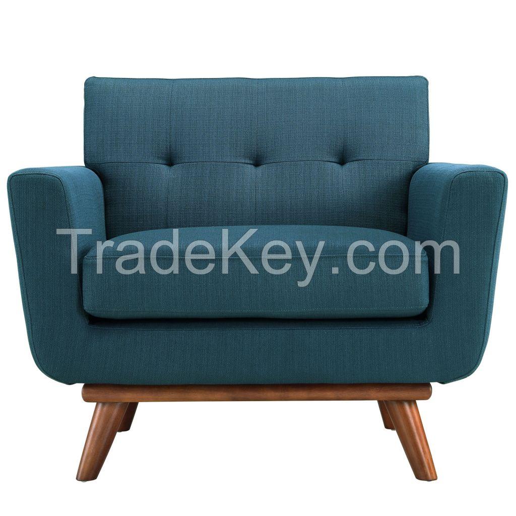 Elegant Fabric Armchair For Living Room Furniture