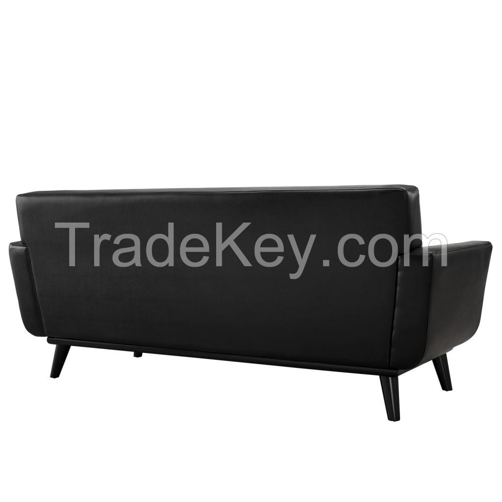 Beverly Bonded Leather Loveseat Sofa