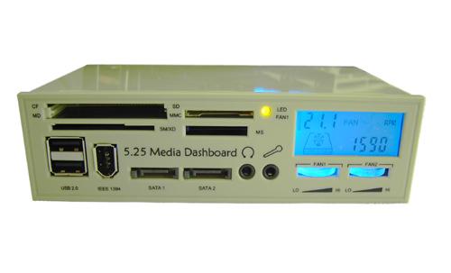 5.25 Inch Media Dashboard Card Reader