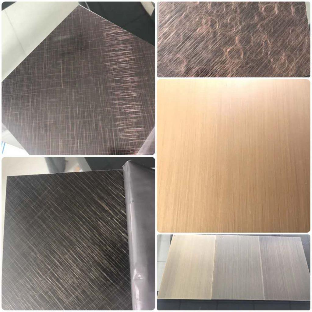 Bronze Hairline Stainless Steel Sheet Copper Platting
