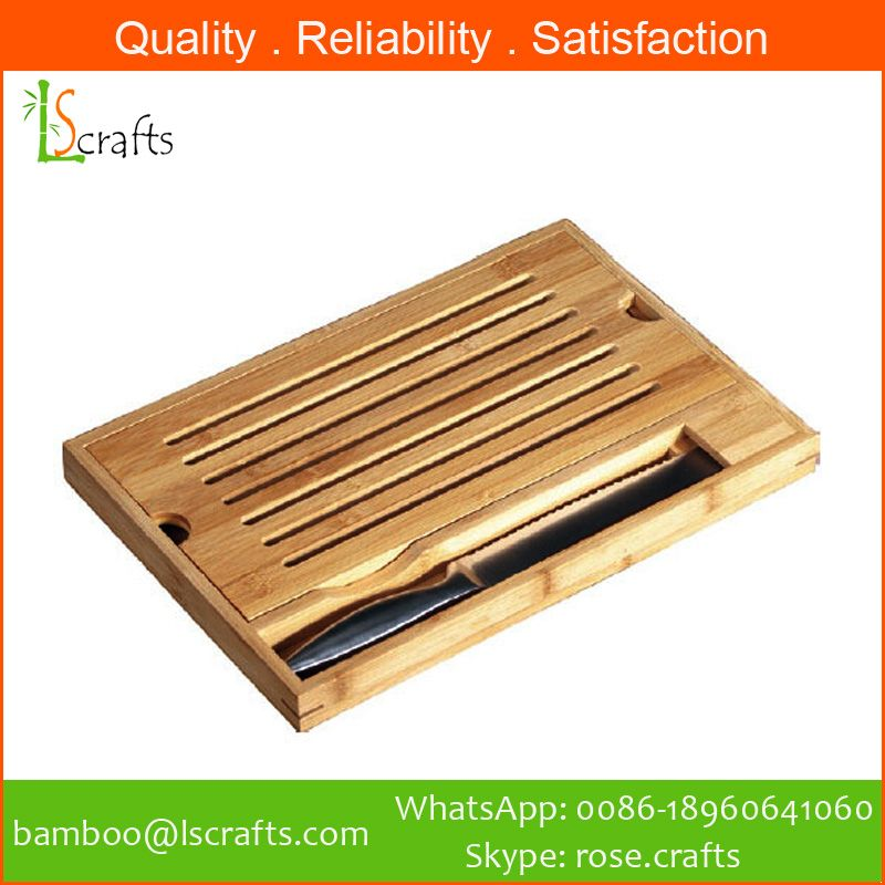 Bamboo Bread Board With Knife Slot