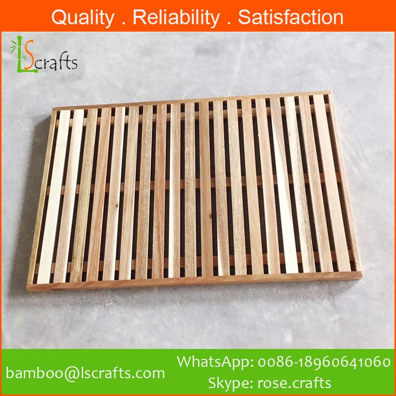 Wholesales Customized Wooden and Bamboo Bath Mats