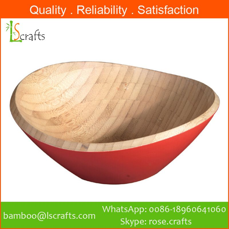 Bamboo Colorful Salad Bowls From Chinese Manufacturer