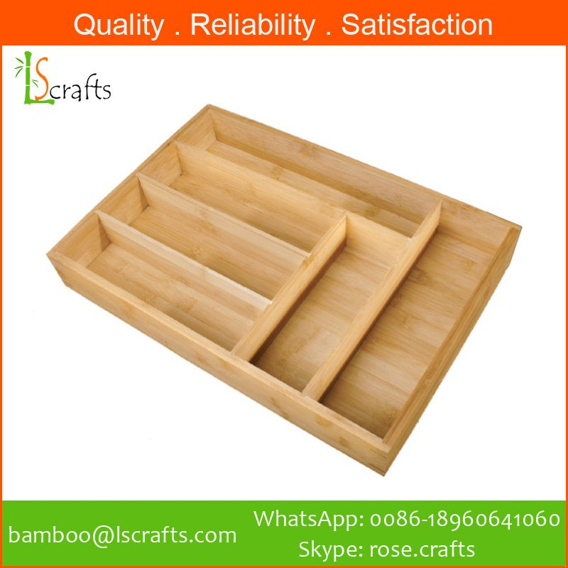 Eco-Freindly Bamboo Cutlery Storage Tray