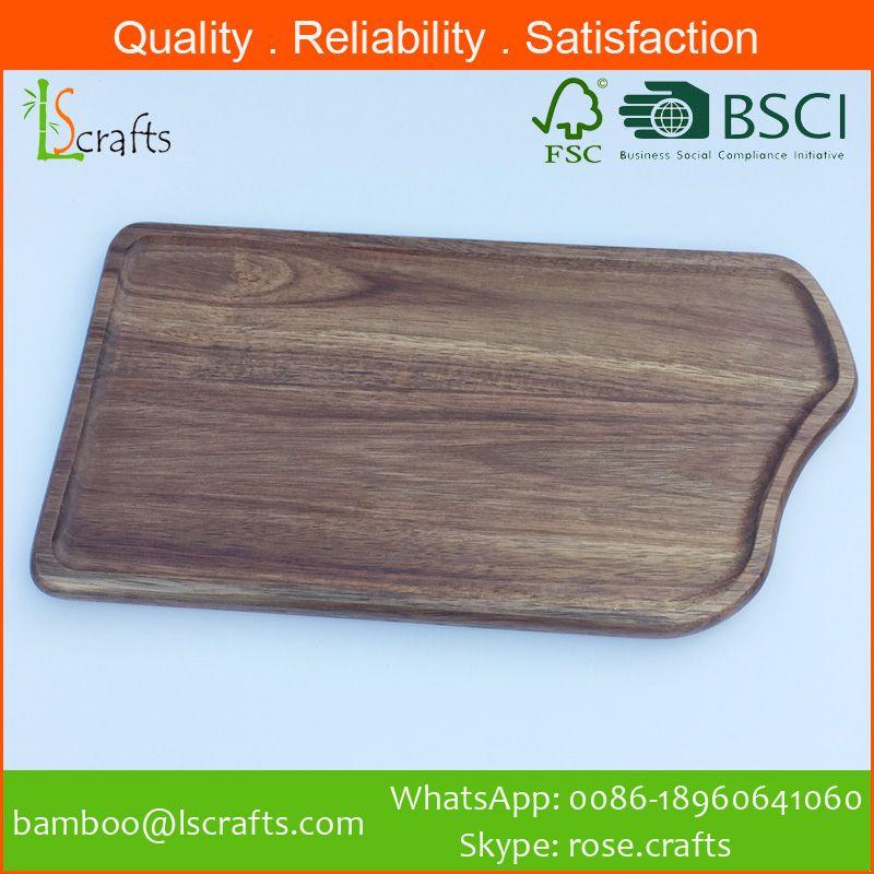 China Wholesales  Acacia Wooden Bread Cutting Board
