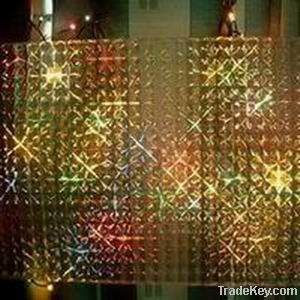 Decorative lighting and building material-multi-lens film