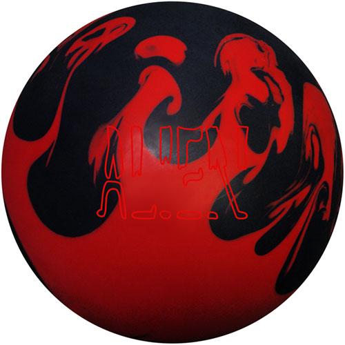 Elite Red Alien Bowling Ball