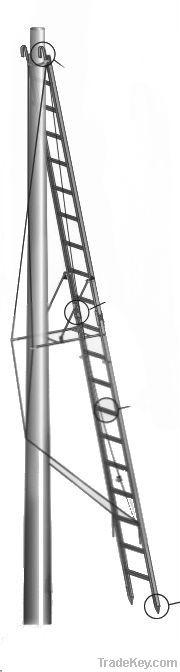 Ladders, stepladders, scaffoldings