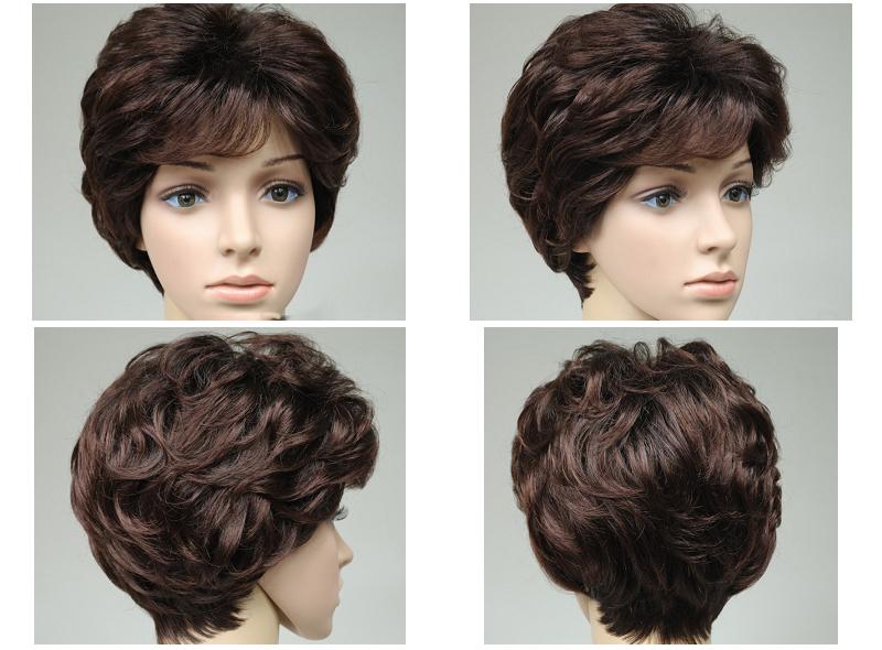 Human hair wig water wave