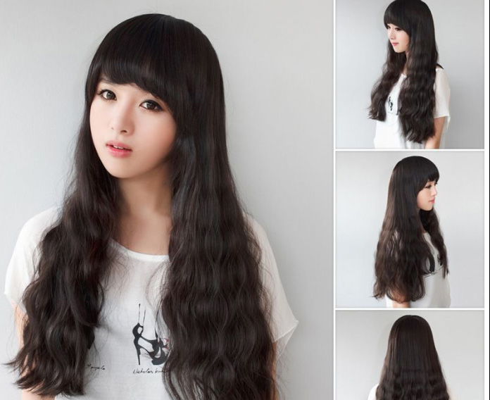 Human hair wig yaki