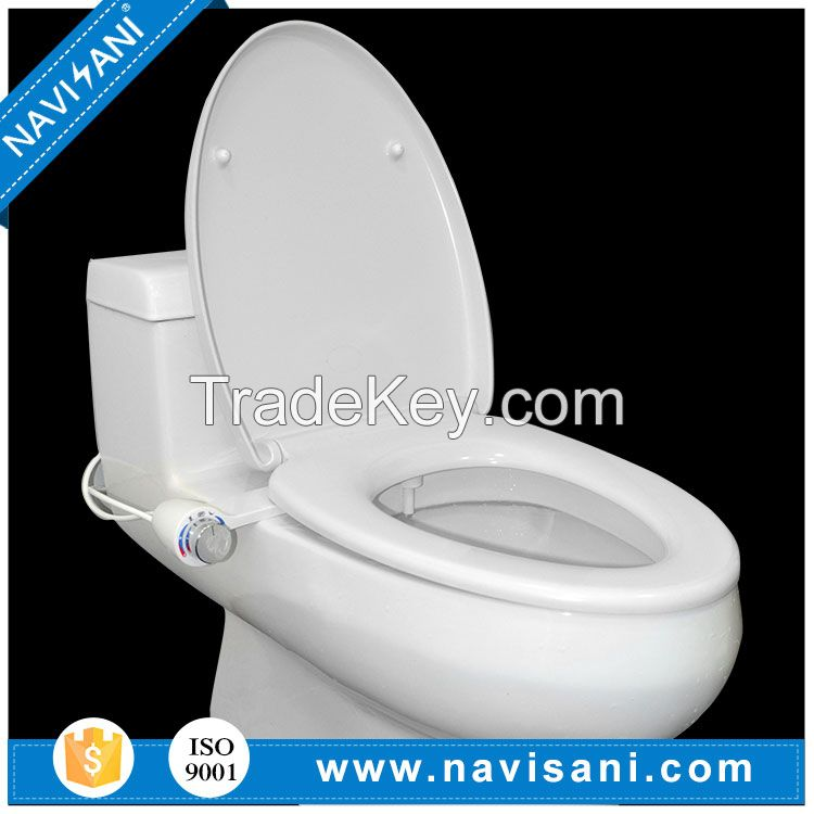 Hygienic toilet bidet self-cleaning nozzle hot and cold water bidet
