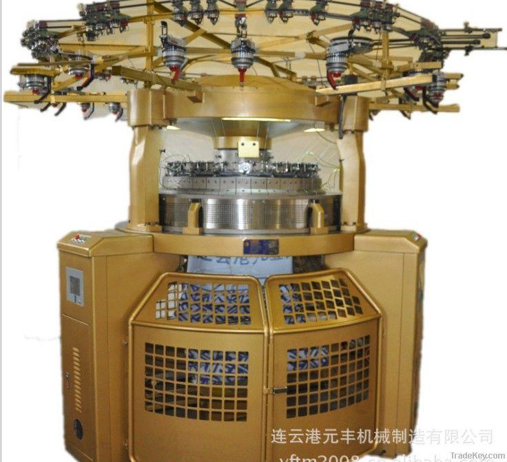 Double side computerized jacquard circular knitting machine