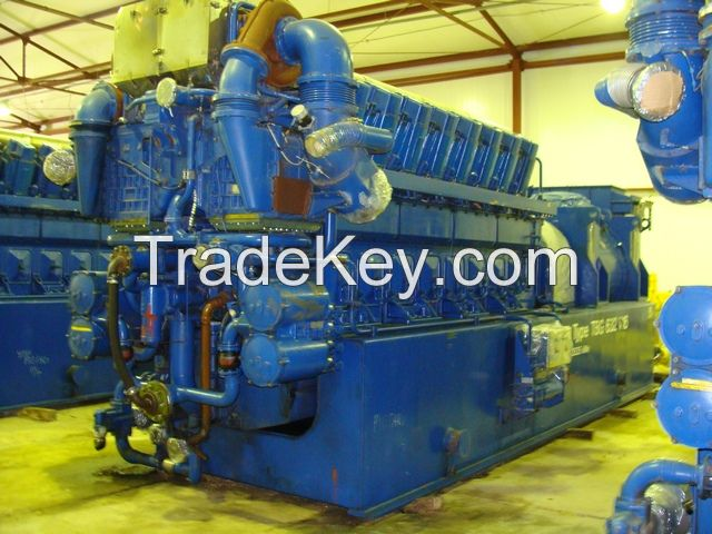 DEUTZZ MWM 10MWe TBG632V16K [x3] Used Dismantled Reconditioned Natural Gas Power Plant 1998y 50Hz 11000V